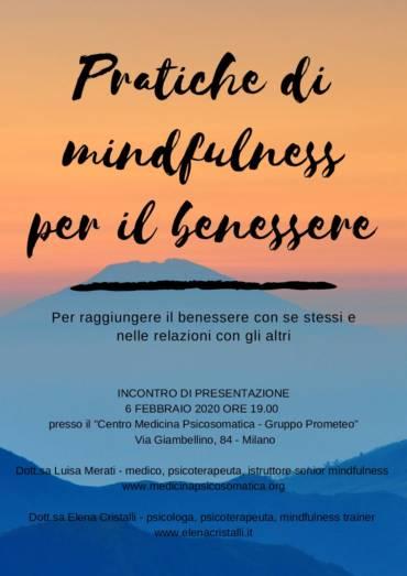 """Percorso """"Pratiche di mindfulness per il benessere"""""""